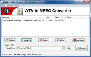 Windows 7 WTV to MPEG Converter 3.7.2 full